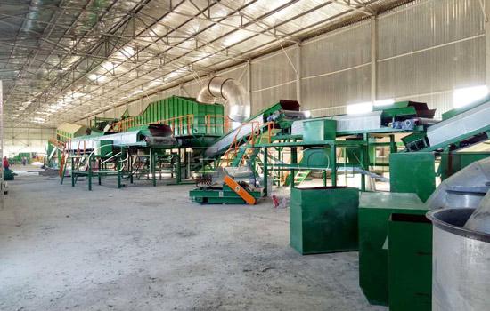 Garbage recycling plant installation in Uzbekistan