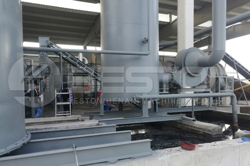 Installation of BST-50 Coconut Shell Charcoal Making Plant